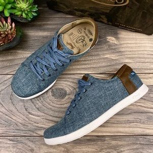 NIB Chaco Ionia Lace Up Denim Canvas Sneakers